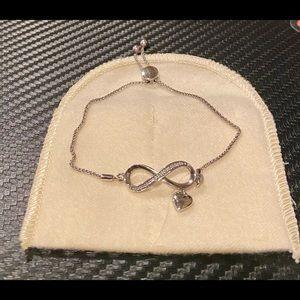 Zales diamond accent Infinity Bolo bracelet